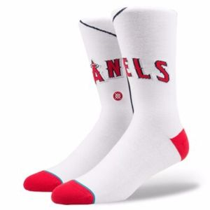 Los Angeles Angels Home Jersey Crew Socks